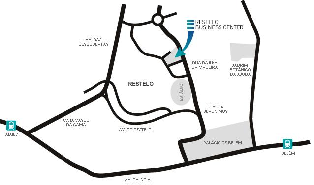 mapa restelo lisboa Restelo Business Center   Localização mapa restelo lisboa